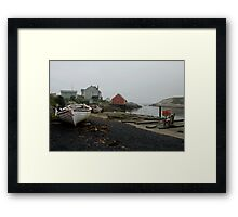 Foggy day, Peggy's Cove Framed Print