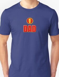 Number 1 Dad - Father's Day T-Shirt Sticker Greeting Card Unisex T-Shirt