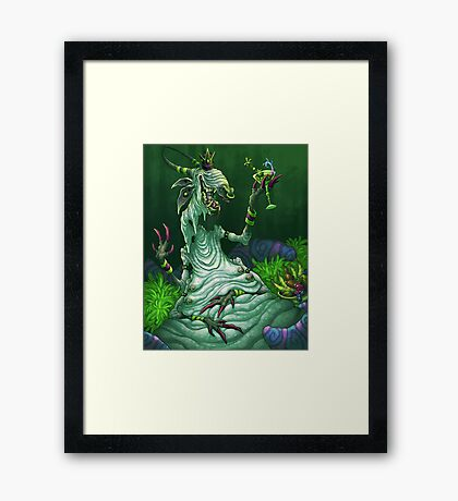 Space Martini Framed Print