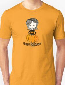 Pumpkin Girl Tee - Happy Halloween  T-Shirt