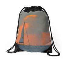 Boating beauty Drawstring Bag