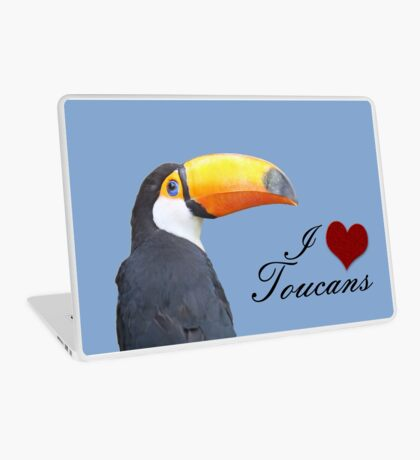 I love toucans blue Laptop Skin