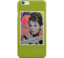 Elegance is an attitude  iPhone Case/Skin