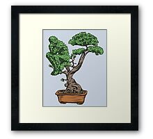 Bonsai Thinking Framed Print