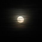 Moon through the filmy clouds by LeeHicksPhotos