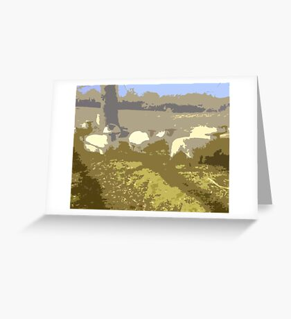Cut Out Sheep Greeting Card