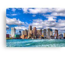 Boston Skyline Viewed over the Harbor Canvas Print