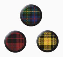 Buttons: Tartan by MelancholyChild