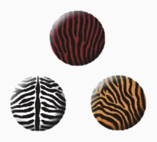 Buttons: Tiger by MelancholyChild