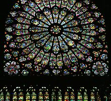 Rose Window, Chartres Cathedral by parischris