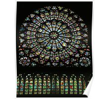 Rose Window, Chartres Cathedral Poster