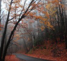 foggy fall drive Sticker