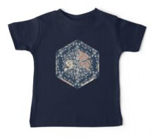 Organic Hexagon Pattern in Soft Navy & Cream  Baby Tee