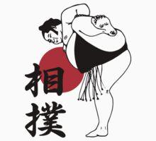 Sumo Wrestling Japanese Kanji T-shirt by kanjitee