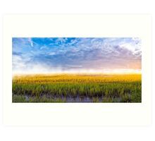 Lazaretto Marsh Panorama - Georgia Coastal Landscape Art Print