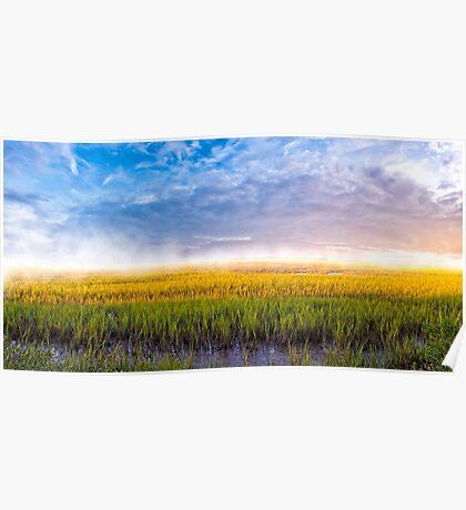 Lazaretto Marsh Panorama - Georgia Coastal Landscape Poster