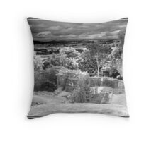 Faux infra red of Denbigh Castle Throw Pillow