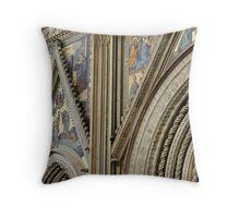 Facade, Orvieto Duomo Throw Pillow