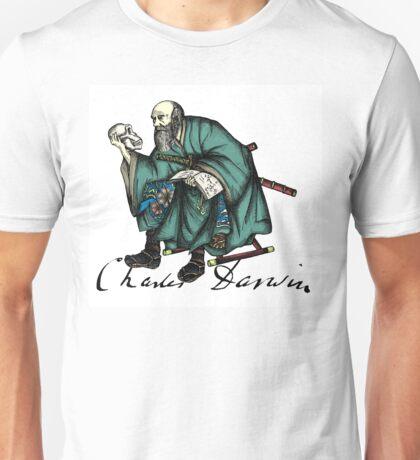 Samurai Charles Darwin Unisex T-Shirt