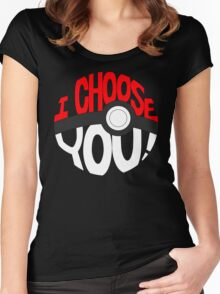 pokemon i choose you! Women's Fitted Scoop T-Shirt