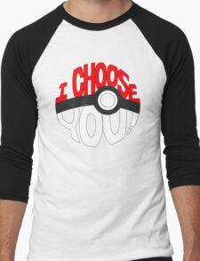 pokemon i choose you! Men's Baseball ¾ T-Shirt