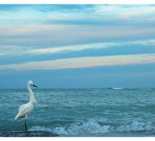 fishing at daybreak Sticker