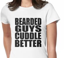 Funny Beard 2 Womens Fitted T-Shirt