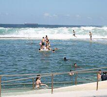 Newcastle Ocean Baths by smithrankenART