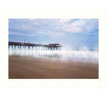 Mists Beneath Tybee Pier Art Print