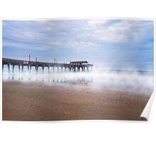 Mists Beneath Tybee Pier Poster