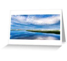 Moon River Blues - Georgia Landscape Panorama Greeting Card