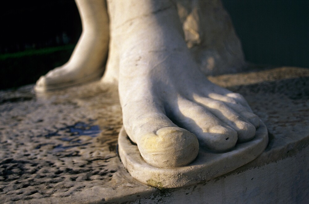 Foot Statue Detail, Foro Italico in Rome, Italy  by Petr Svarc