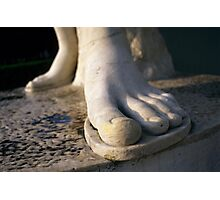 Foot Statue Detail, Foro Italico in Rome, Italy  Photographic Print