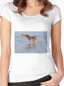 I saw a fish this big Women's Fitted Scoop T-Shirt