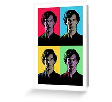 Benedict Cumberbatch Pop Art  Greeting Card