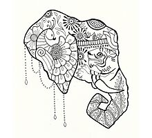 Painted Elephant by Cat Vickers-Claesens
