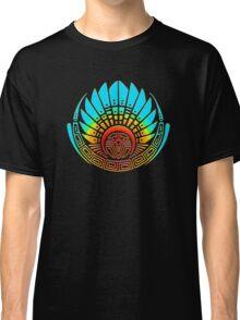 Mayan mask, crop circle, Quetzalcoatl Classic T-Shirt