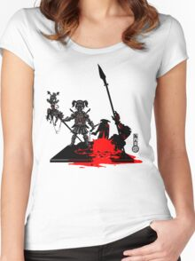 The Game of Kings, Wave Eight: The Black Queen's Pawn Women's Fitted Scoop T-Shirt