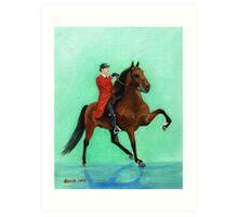 Tennessee Walking Horse Portrait Art Print