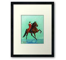 Tennessee Walking Horse Portrait Framed Print