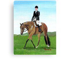 The Hunt Seat Horse Quarter Horse Portrait Canvas Print