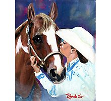 The Kiss Paint Horse Class Winner Portrait Photographic Print
