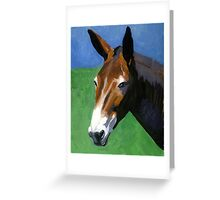 Mule Portrait Greeting Card
