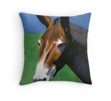 Mule Portrait Throw Pillow
