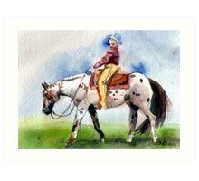 Appaloosa Western Pleasure Horse Portrait Art Print
