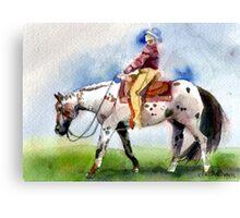 Appaloosa Western Pleasure Horse Portrait Canvas Print