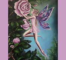 Pink rose fairy . by gabo2828