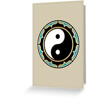 Yin Yang Lotus Greeting Card