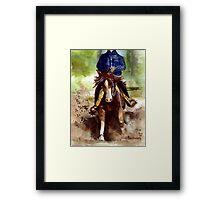 Reining Quarter Horse Portrait Framed Print