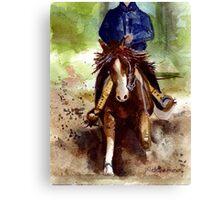 Reining Quarter Horse Portrait Canvas Print